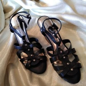 b1917146163b6 DANA BACHMAN black wedge heels